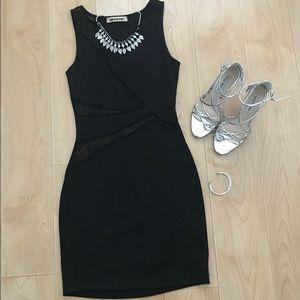 Mystic black mesh mini dress